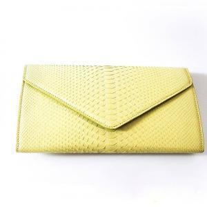 Capricieuse Sac python jaune