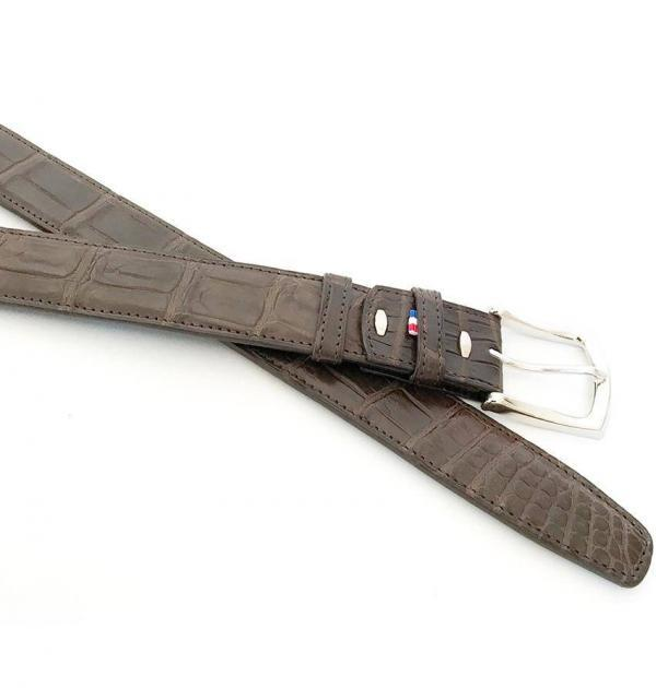 Ceinture Crocodile Marron