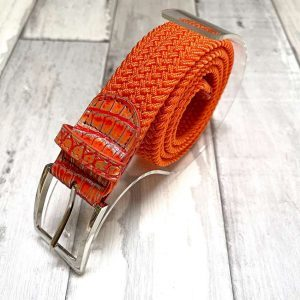 Ceinture Grand Prix croco orange